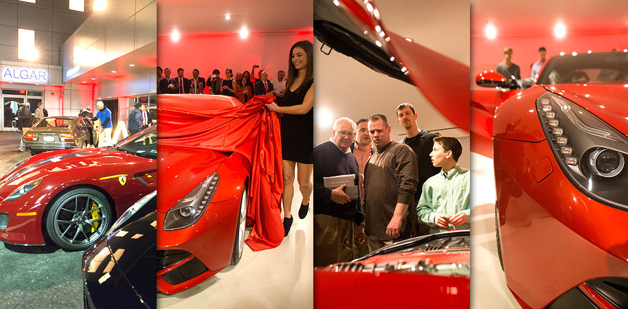 Philadelphia Event Photography, Ferrari Berlinetta Unveiling